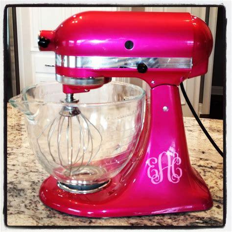 customized kitchen aid mixer  raspberry ice