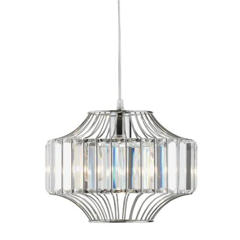 buy of house vienna glass chrome beaded wire pendant light ceiling and wall lights argos