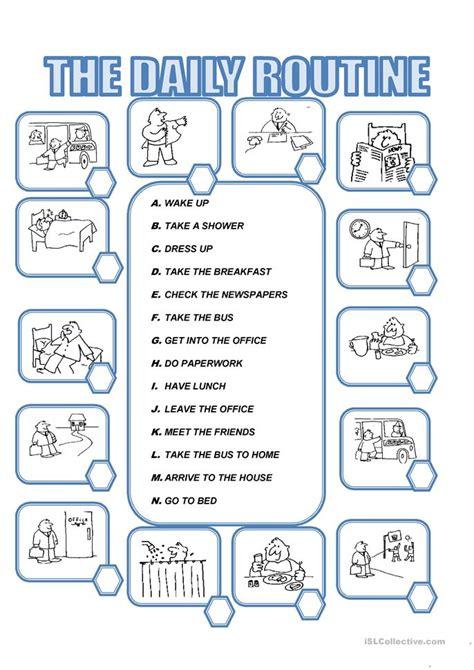 daily activities worksheet esl calendar june