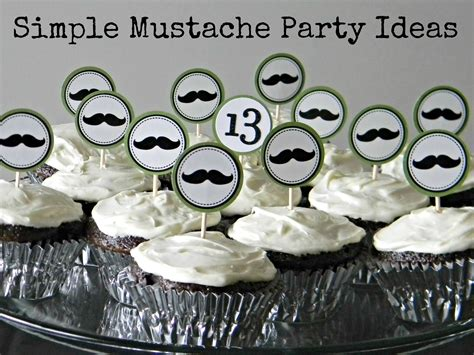Simple Mustache Party Ideas  Organize And Decorate Everything