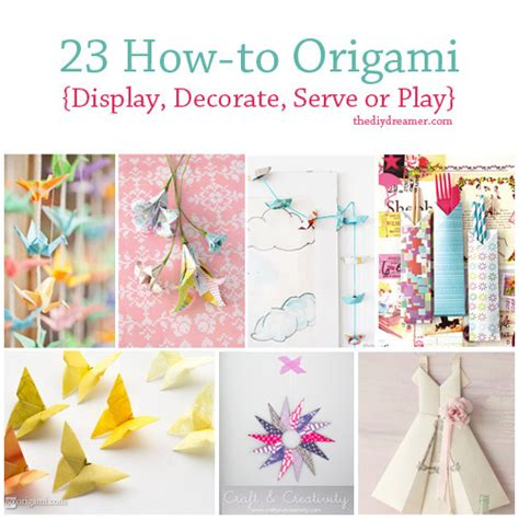 How To Make Decorations - 23 tutorials on how to origami the d i y dreamer