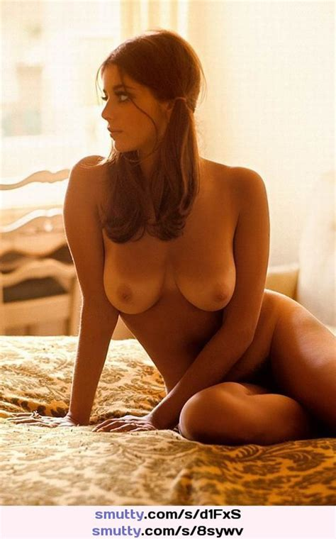 Nude Gorgeous Brunette Tanlines Ponytail Naked Bed