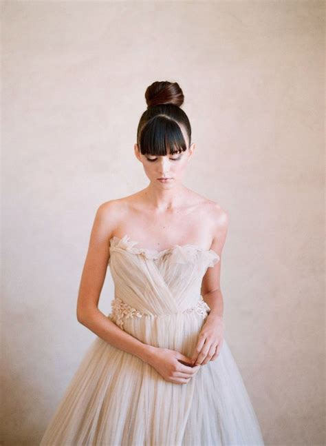 wedding hairstyle    top knot