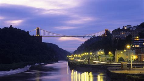 Trees Bridges United Kingdom Street Lights Rivers Suspension Bridge Bing Bristol High Quality