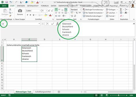 Zeilenumbruch Excel by 1 215 1 Der Textformatierung In Excel Linearis Bi F 252 R Die