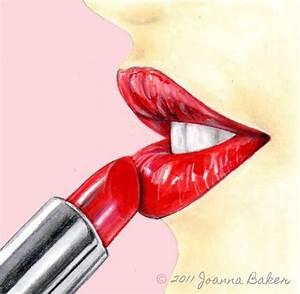 Lipstick illustration by Joanna Baker. | Drawing | Pinterest