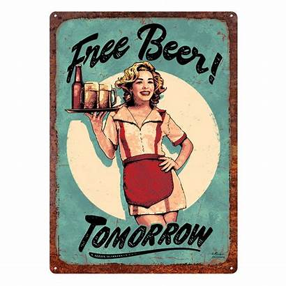 Beer Tomorrow Weatherproof Tin Edge River Punched