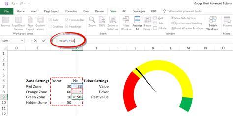 gauge chart tutorial explanation blank lesson plan
