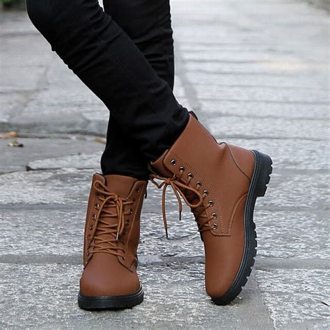 Autumn New Men Shoes Genuine Leather Boots Large Size