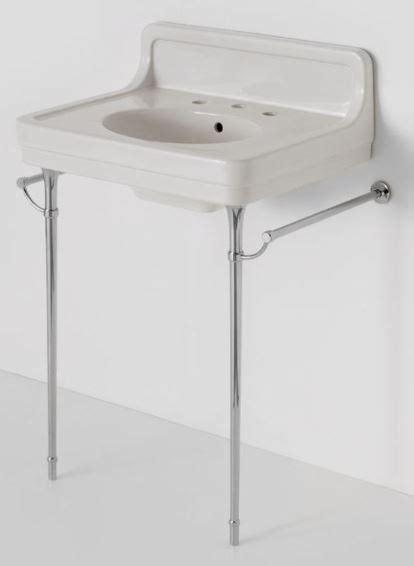 pedestal sink with metal legs retro bathroom sinks on chrome legs alden from waterworks
