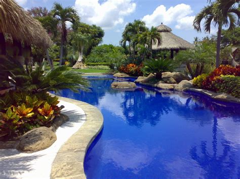 pool tropical landscaping ideas landscape