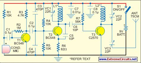 medium power fm transmitter circuit diagram  instructions