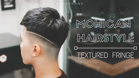 textured fringe haircut  skin fade  mohican haircut