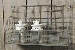 Wandregal Aus Metall : wandregal 55cm x 32cm aus metall grau gew rzregal k chenregal eisen metallregal ebay ~ Markanthonyermac.com Haus und Dekorationen
