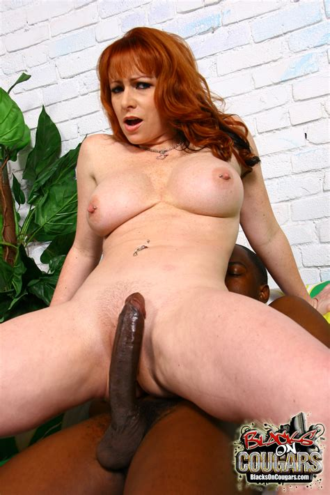 Horny Big Tit Redhead Cougar Fucks Black Monster Cock