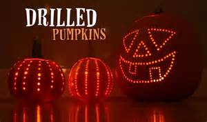 Pumpkin Carving Drill Patterns by Drilled Pumpkins Repeat Crafter Me