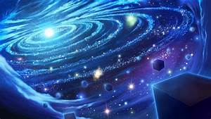 Wallpaper space, graphics, galaxy, planet, cube desktop ...