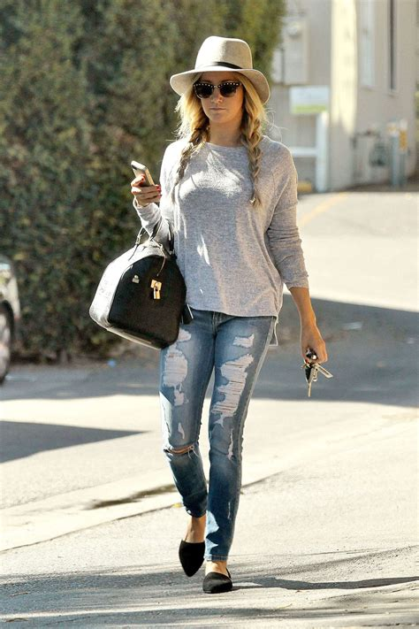 ashley tisdale  ripped jeans     studio