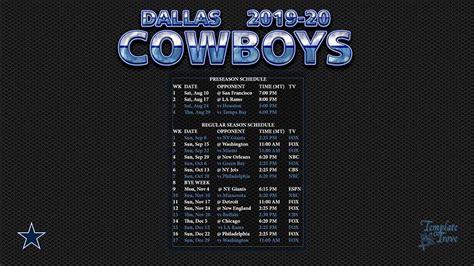 dallas cowboys wallpaper schedule