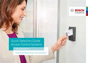 Quick Selection Guide Access Control Systems