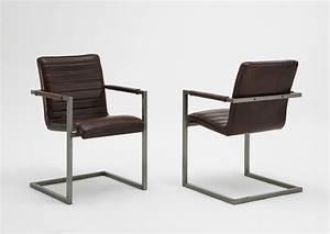 Freischwinger Stuhl Leder Braun : brauner leder akzent stuhl set von 2 m belideen ~ Bigdaddyawards.com Haus und Dekorationen