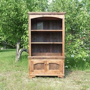Homestead barnwood bookcase 2 piece for Barnwood pieces