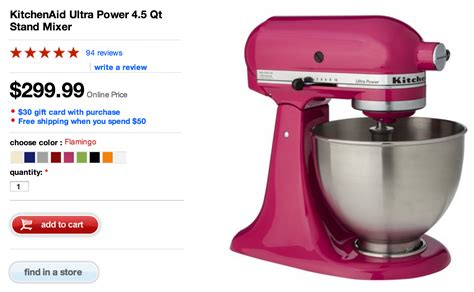 kitchen aid stand mixer colors kitchenaid ultra power 4 5 qt stand mixer as low as 242 7643