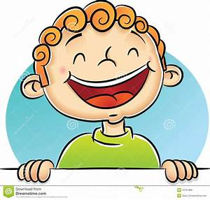Boy Laughing stock vector. Illustration of curl, cartoon ...