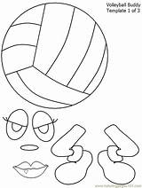 Volleyball Coloring Pages Printable Sports Template sketch template