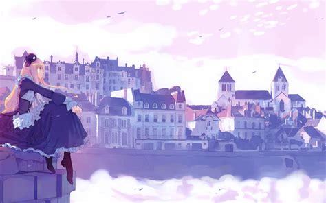 stunning anime city wallpaper