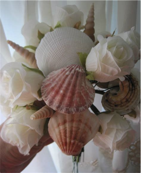 how to make seashell flowers diy seashell bridal bouquet with flowers seashell crafts and beach blog