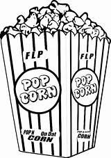 Popcorn Machine Drawing Kernel Coloring Clipartmag sketch template