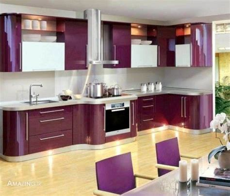 purple kitchen designs مدل کابینت 2016 مدل دکوراسیون آشپزخانه جدید شیک 95 1686