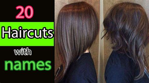 20 Types Of Haircuts For Girls With Names YouTube
