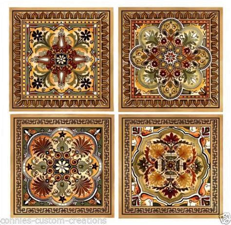 Tuscan Decorative Wall Tile by Italian Ceramic Tiles Ebay