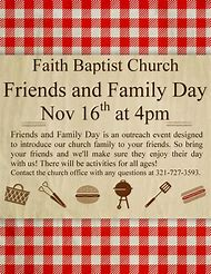 family and friends day at church program