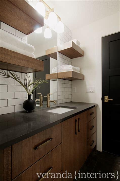 brown vanity transitional bathroom