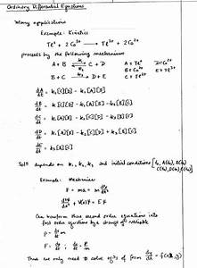 Ordinary Differential Equations  Odes