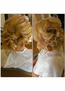 Bridal hair, wedding hair, side swept, side bun, messy ...