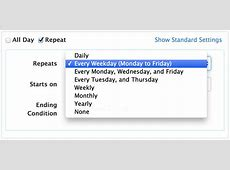 Repeating Events PHP Event Calendar
