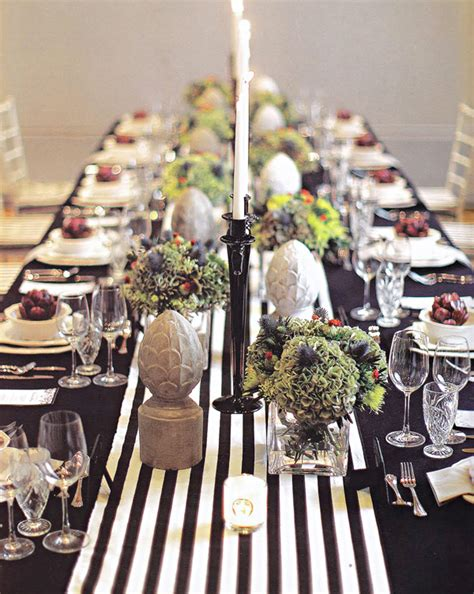 Bridal Shower Tablescapes by Holiday Inspiration Black White Green Erika Brechtel