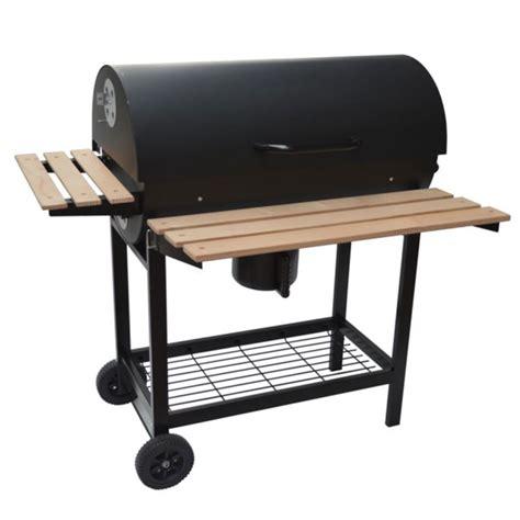 barbecue a charbon avec couvercle barbecue charbon de bois avec couvercle 71x35cm noir