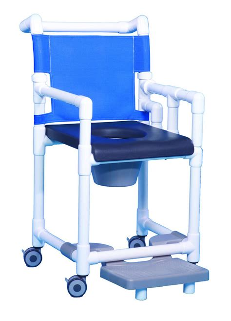 shower chair commode deluxe soft seat and drop arm