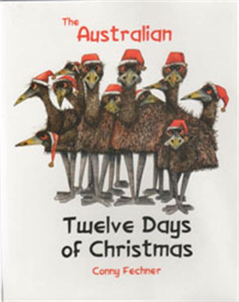 The Australian Twelve Days Of Christmas  Conny Fechner New Softcover Picture Book The