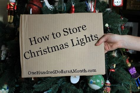 easy holiday tips storing christmas lights one hundred