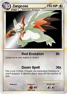Pokémon Zangoose 57 57 - Red Evolution - My Pokemon Card
