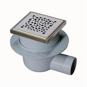 Bonde Receveur A Carreler : siphon bonde douche italienne 100 x 100 mm horiz achat ~ Premium-room.com Idées de Décoration