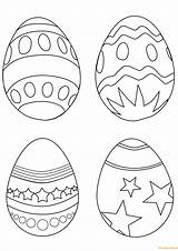 Easter Coloring Eggs Egg Colouring Printable Simple Ostereier Supercoloring Paques Drawing Ausmalbilder Coloriage Sheets Oeufs Spring Oeuf Template Imprimer Dessin sketch template