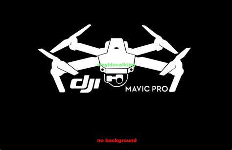 This logo is compatible with eps, ai, psd and adobe pdf formats. New DJI Mavic Pro Window / Case Decal Sticker FPV drone ...