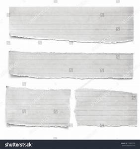 Collection Torn Lined Paper Pieces Isolated Stock Photo ...